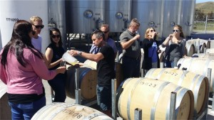 Wine tasting from the barrel